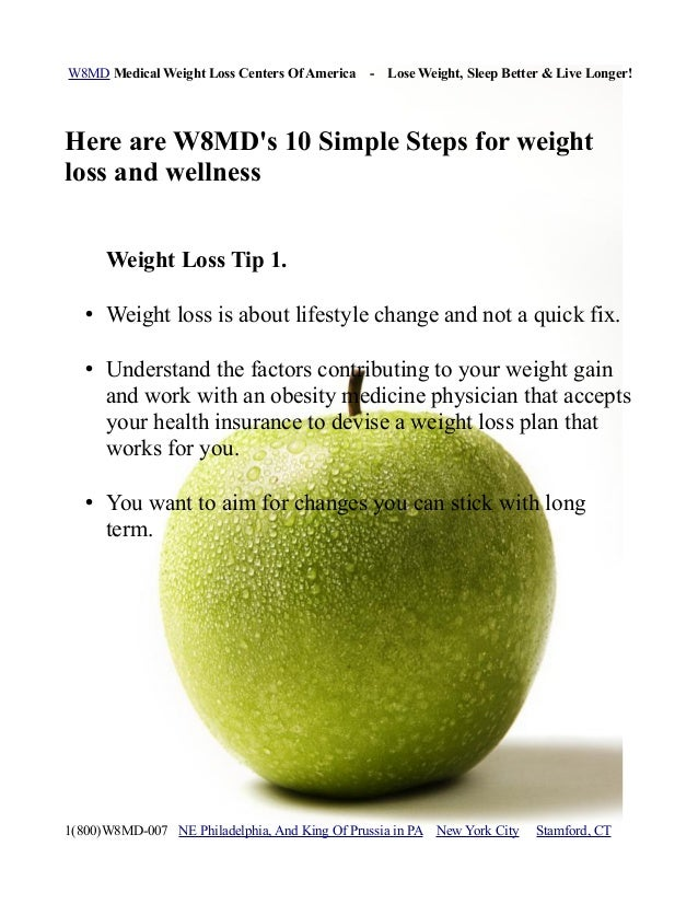 W8MD Medical Weight Loss Centers Of America - Lose Weight, Sleep Better & Live Longer!Here are W8MDs 10 Simple Steps for w...