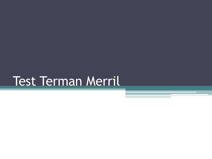 Test Terman Merril<br />