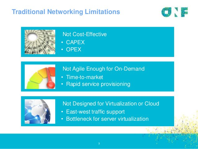 Traditional Networking Limitations 3 Not Cost-Effective • CAPEX • OPEX Not Agile Enough for On-Demand • Time-to-market • R...