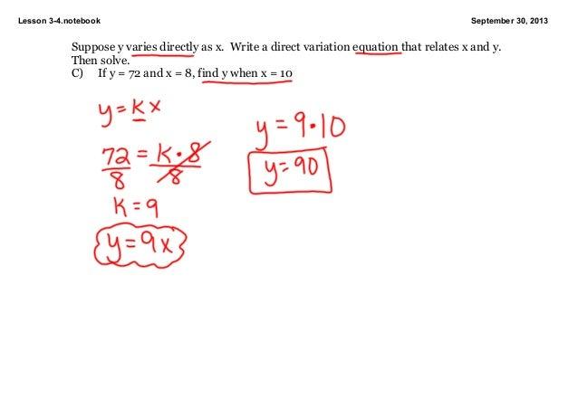 inverse variation equation