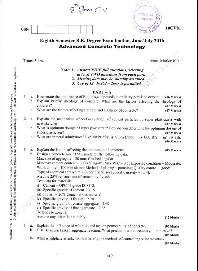 semester july  civil engineering question paper