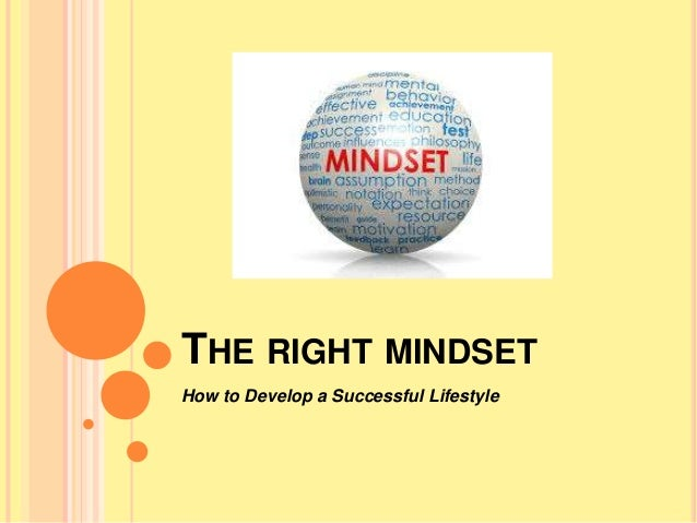 THE RIGHT MINDSET How to Develop a Successful Lifestyle