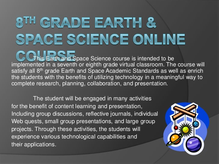 8th Grade Earth Space Science Online Course