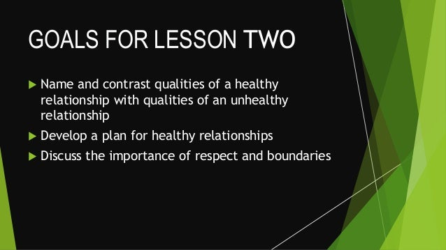 An relationship unhealthy of qualities Qualities of