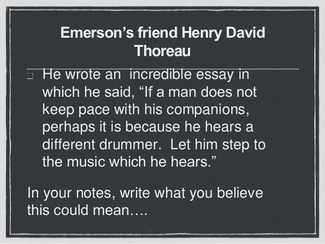 the incredible henry david thoreau essay Philosopher, naturalist, poet and rugged individualist, henry david thoreau ( 1817-1862) has inspired generations of readers to think for themselves, to follow .