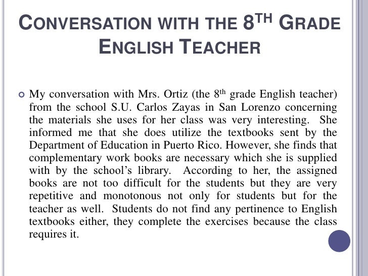 Essays in english for class 8