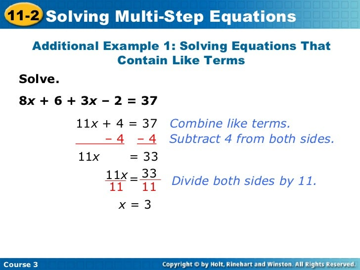 multi step equations with fractions worksheets