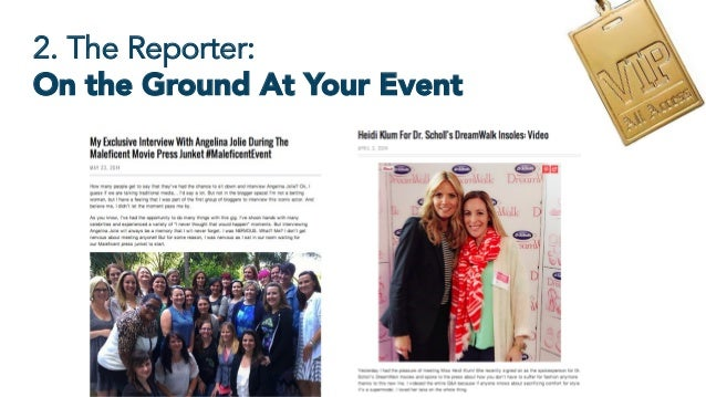 2. The Reporter: On the Ground At Your Event