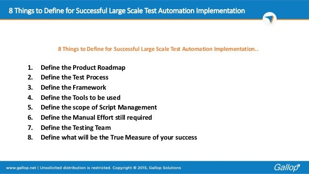8 Things To Define For Successful Large Scale Test