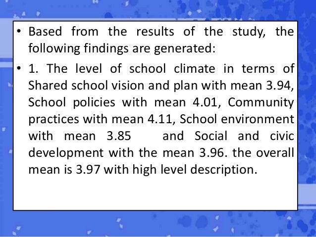 SCHOOL CLIMATE AND PROFESSIONAL GROWTH OF ELEMENTARY ...