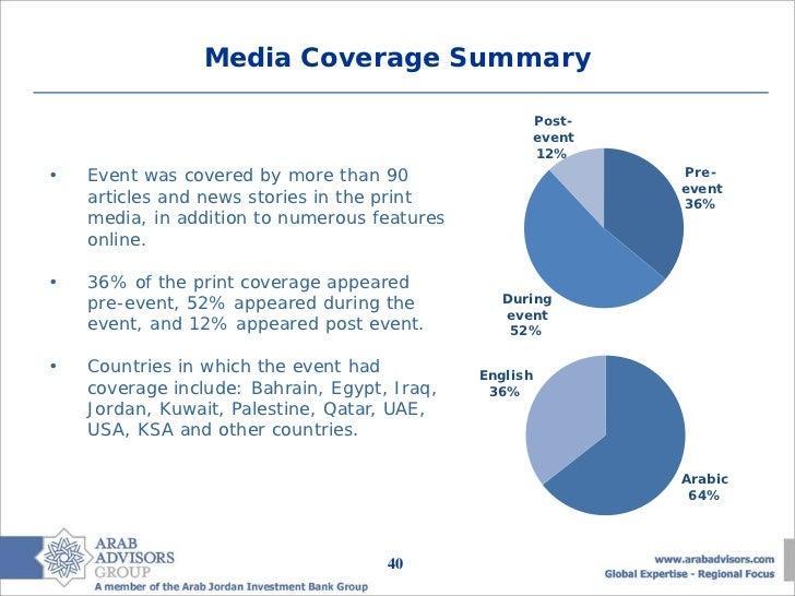 Media Coverage Summary                                                        Post-                                       ...