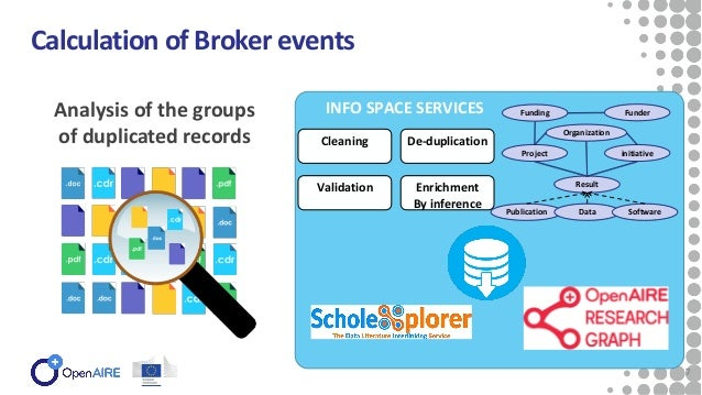 7 Calculation of Broker events Analysis of the groups of duplicated records 7 Validation Cleaning De-duplication Enrichmen...