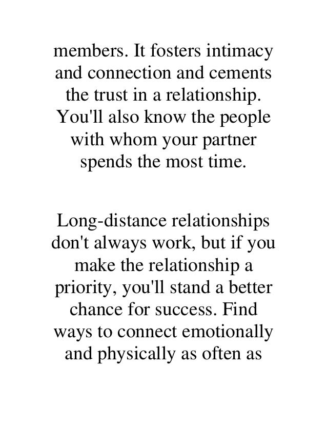 how to find success in a long distance relationship