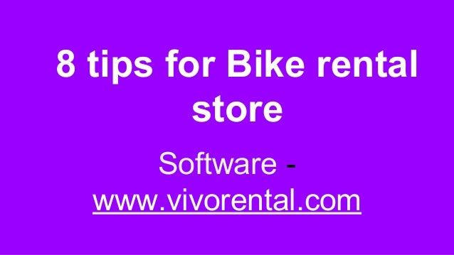 8 tips for Bike rental store Software - www.vivorental.com