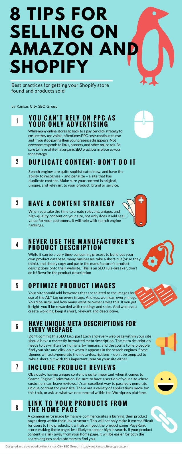 8 tips for selling on Amazon and Shopify  kansas city seo