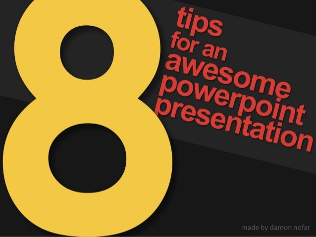 giving better presentations