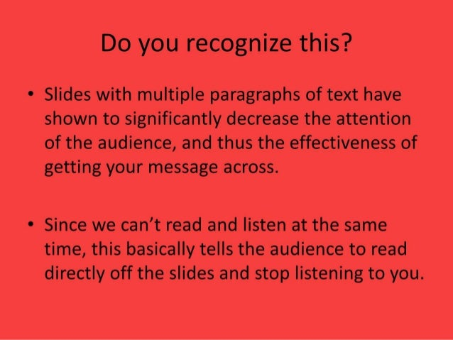 Do not use the slide as a manuscript →