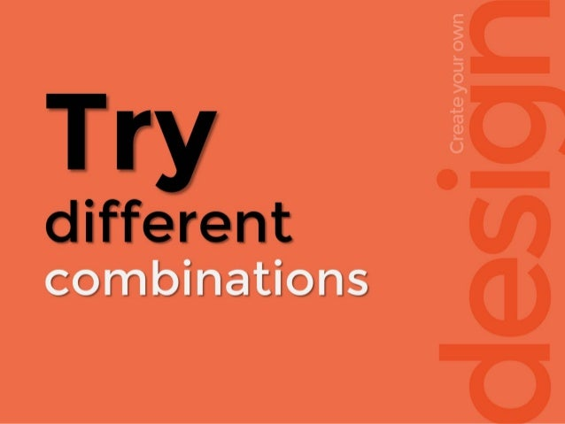 esig Createyourown Try different combinations