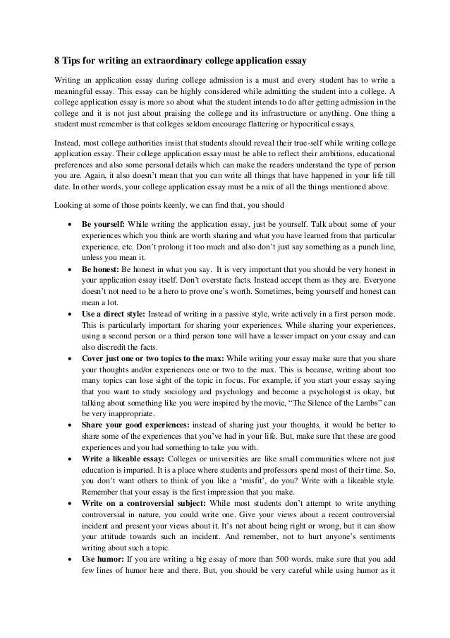 common application essay college confidential