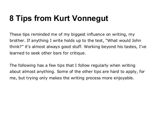 How Useful Are Kurt Vonnegut's Eight Rules of Writing?