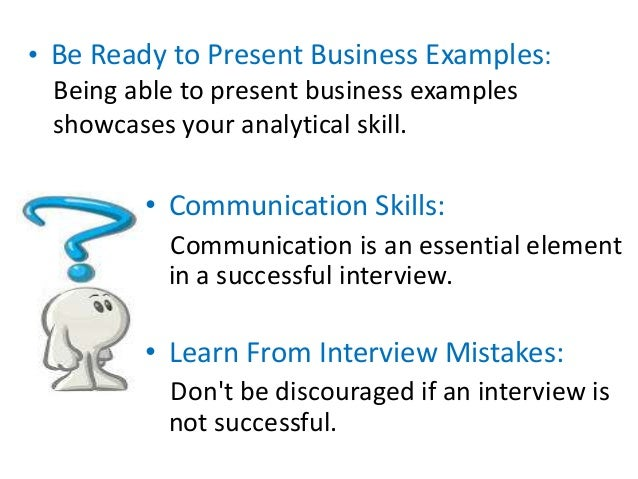 example of analytical skills for interview