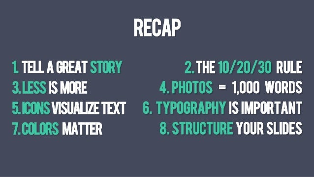 visual presentation Epic slide deck design -   hi@deckworksco 8 tips to create  epic visual presentations summary: 1 tell a great story 2.
