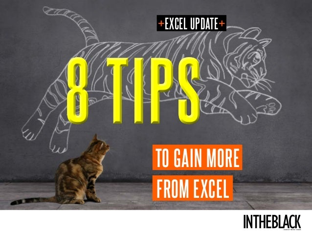 LEADERSHIP . STRATEGY . BUSINESS 8 TIPS8 TIPS FROM EXCEL TO GAIN MORE +EXCEL UPDATE+