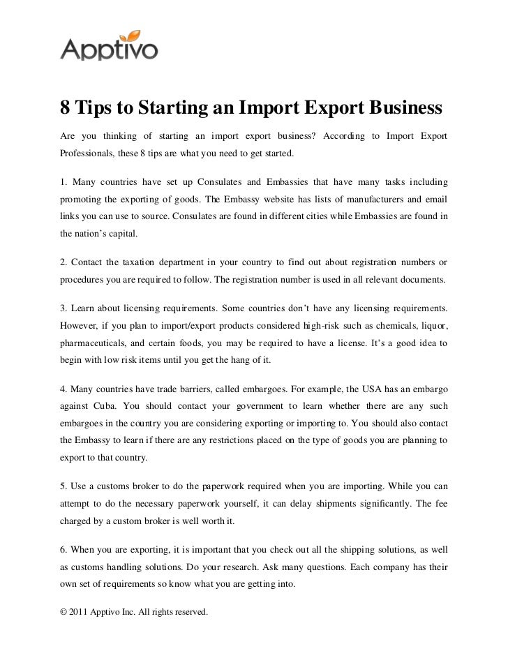 how to run an import export business