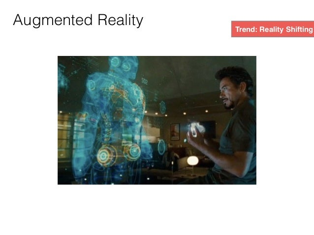 Trend: Reality Shifting Augmented Reality (AR) might be the 8th mass market to evolve, following print, recording, cinema,...