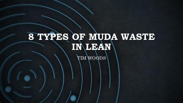 8 TYPES OF MUDA WASTE IN LEAN TIM WOODS