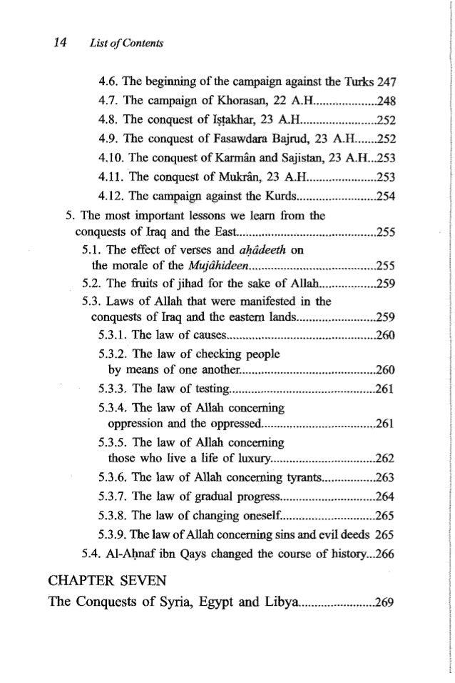 'Umaribn al-Khattbb 15 1.The Conquest of Syria........................................................ 269 Discussion betw...