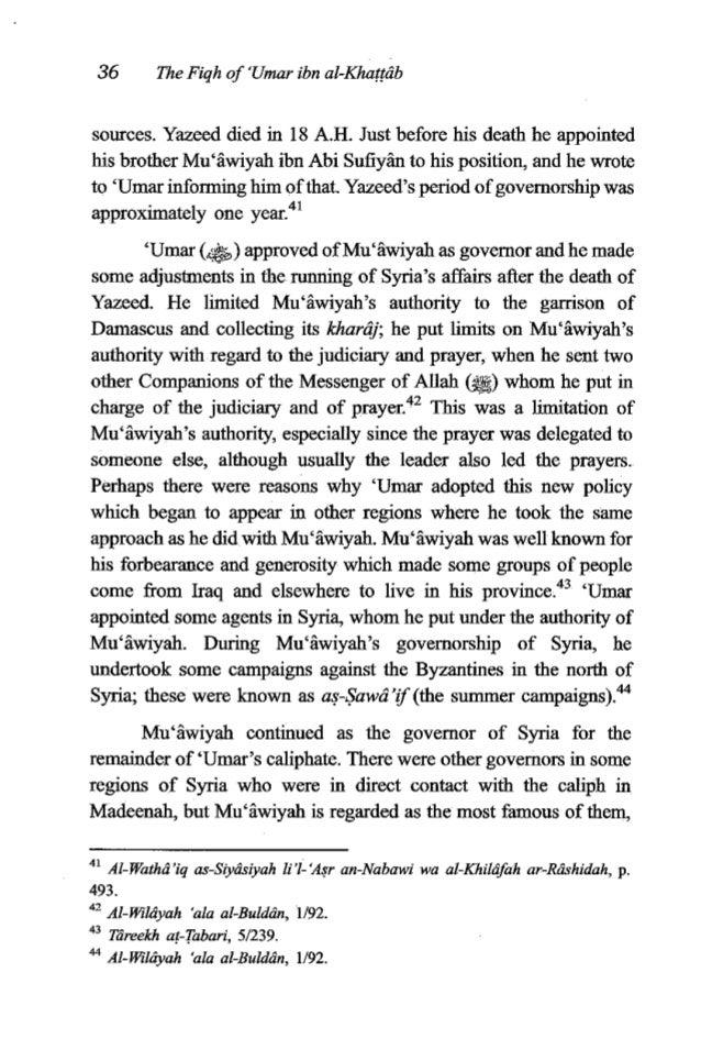 'Umaribn al-Khaffrib 37 as he was the governor of al-Balqa', Jordan, Palestine, Antioch, Qalqeeliyah, Ma'arrah al-Mwarreen...