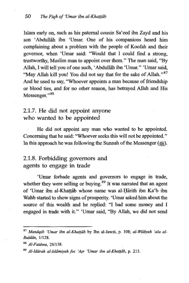 """'Umaribn al-Khatjtb 51 you to engage in trade!"""" and he took fiom his the profits that he had made.g0 2.1.9. Recording the ..."""