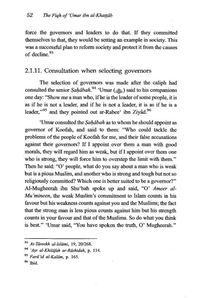 """'Umaribn al-Kha??rib 53 Then he appointed him as governor of Koofah and said to hi,""""Try to be one whom the righteous trust..."""