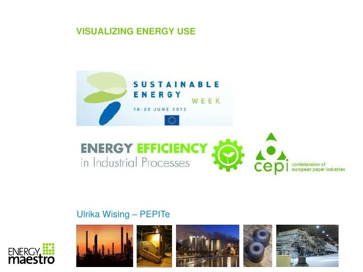 VISUALIZING ENERGY USEUlrika Wising – PEPITe                         Slide | 1