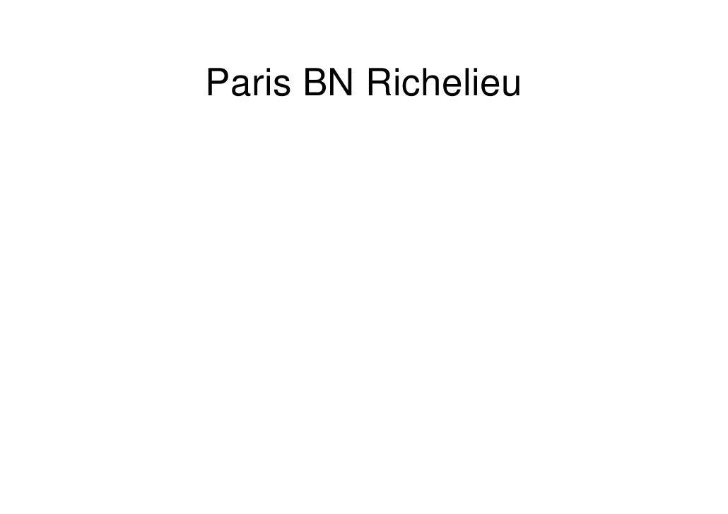 Paris BN Richelieu