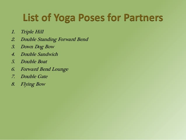 8 Various Yoga Poses For Partners