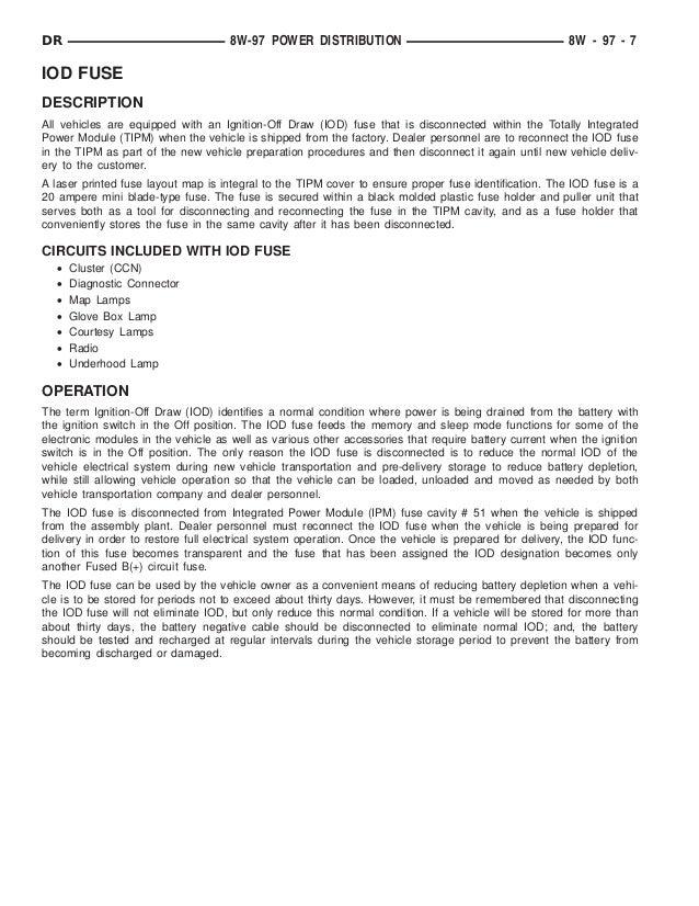 8w97 power distribution maintenance manual 7 638?cb=1471532748 8w97 power distribution maintenance manual PT Cruiser IOD Fuse at bayanpartner.co
