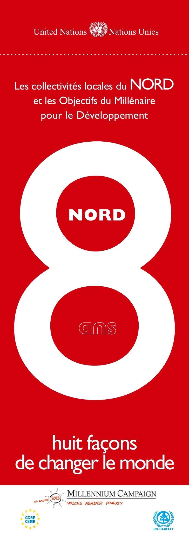 Les collectivités locales du NORD     et les Objectifs du Millénaire       pour le Développement                nord      ...