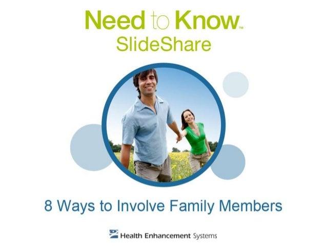 8 Ways to Involve Family Members