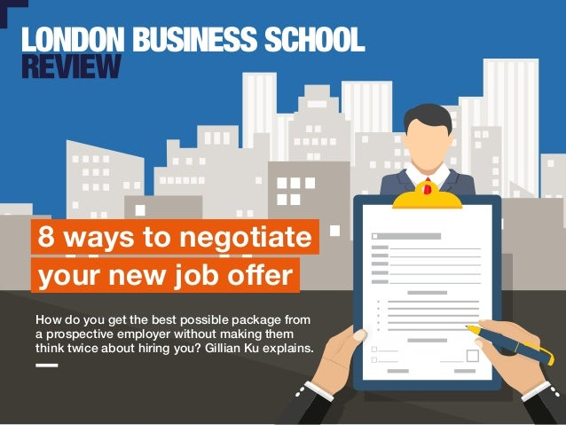 8 ways to negotiate your job offer