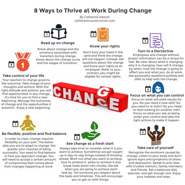 8 Ways to Thrive During Change at Work (Infographic)