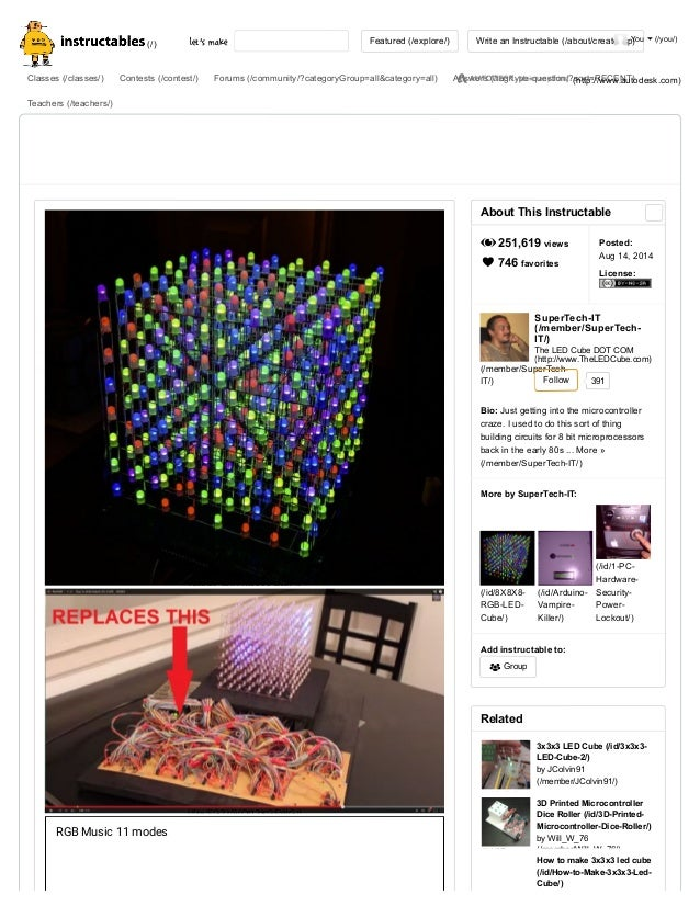 8 X8x8 3d Rgb Led Cube 18 Steps With Pictures