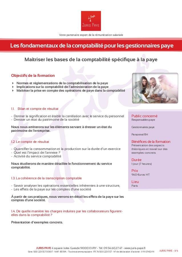 Votre partenaire expert de la rémunération salariale  Les fondamentaux de la comptabilité pour les gestionnaires paye  Maî...