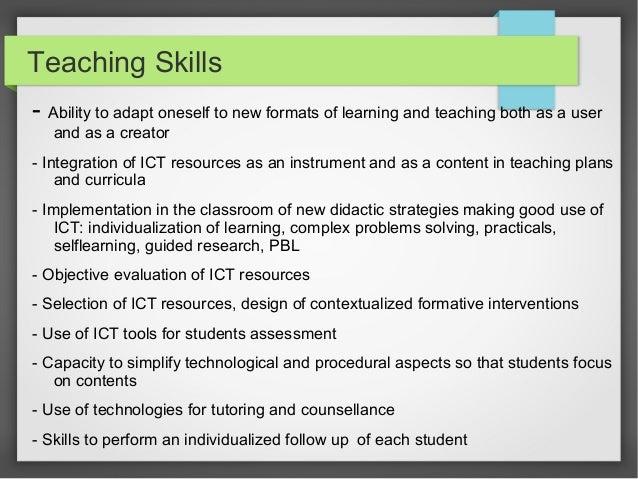 ICT Skills for Teachers