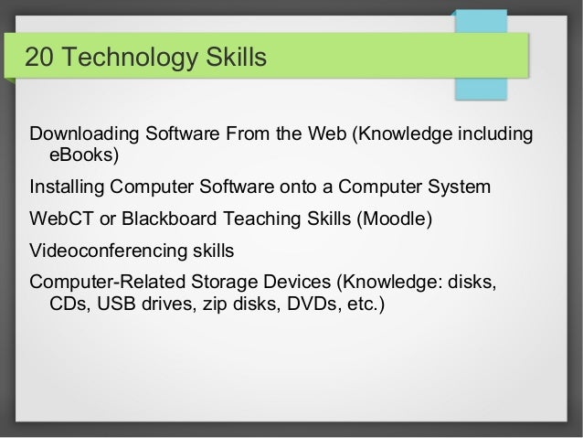 what are computer software skills