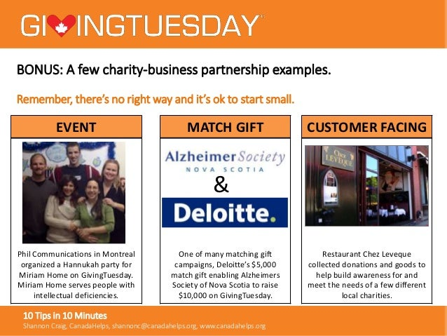 10 Tips in 10 Minutes for GivingTuesday - Partnering with