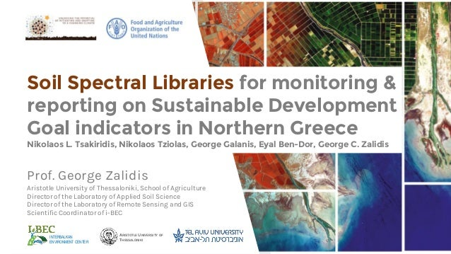 Soil spectral libraries for monitoring reporting on sdg for Soil library