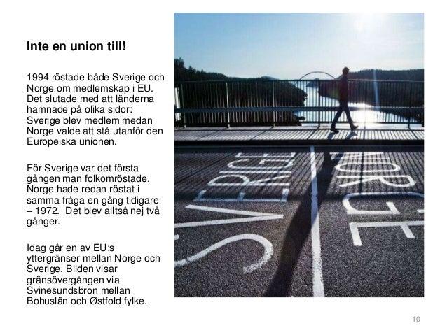 Norge eu rostar efter sverige