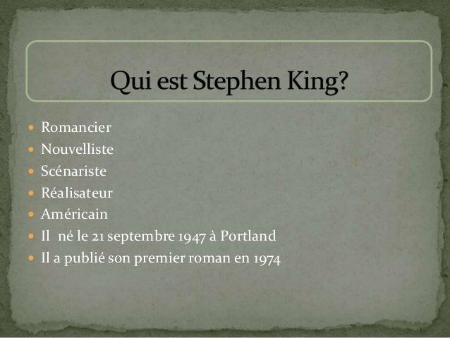  Romancier  Nouvelliste  Scénariste  Réalisateur  Américain  Il né le 21 septembre 1947 à Portland  Il a publié son...